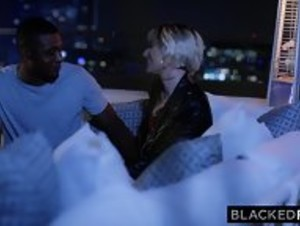 BLACKEDRAW Blonde Cutie Cheered Up By Massive Penis - HD